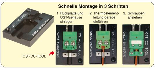 Schnelle Montage mit dem Werkzeug OST-CC-TOOL
