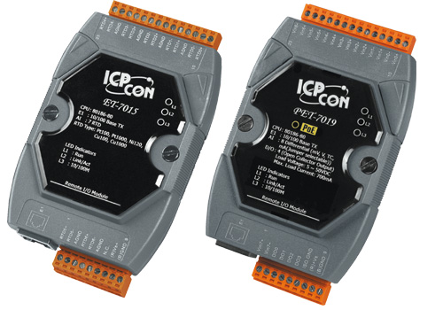 ET-7000, PET-7000 ICPCON Prozess-E/A-Module mit Ethernet-Interface | ET-7000, PET-7000