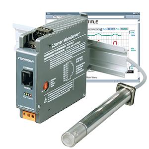 DIN-Schienen-Transmitter für Temperatur 0-70°C, Feuchte 10-90%, Taupunkt, TCP/IP-Ausgang | iBTHX-D , iBTX -D