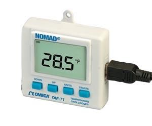 Datenlogger mit Display für Temperatur und relative Feuchte | OM-70