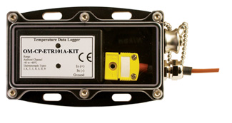 Thermocouple Temperature Data Logging System with Waterproof Enclosure and Remote Probe | OM-CP-ETR101A-KIT