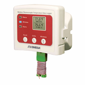 Wireless-Datenlogger mit Display für Temperaturmessung mit Thermoelement | OM-CP-RFTCTEMP2000A