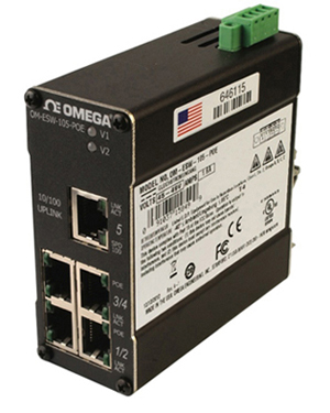 Unmanaged Industrial Ethernet Switch | OM-ESW-105-POE