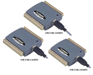 OM-USB-1208FS, OM-USB-1408FS, OM-USB-1608FS 8-Kanal-USB-Messsystem für Spannung | OM-USB-1208FS, OM-USB-1408FS, OM-USB-1608FS