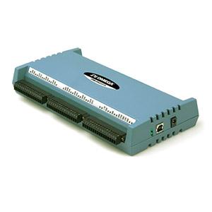 16 differentielle oder 32 massebezogene Analogeingänge, erweiterbar auf 32/64 Kanäle, für Thermoelemente und Prozessignale mit USB-Schnittstelle | OMB-DAQ-2416
