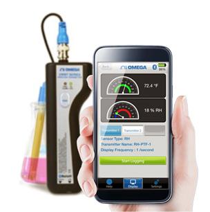 Handheld Bluetooth®-Messumformer für Temperatur, relative Feuchte und pH mit App für Smartphone oder Tablet | UWBT