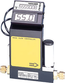 Massendurchflussregler für verschiedene Gase von 10 sml/min bis 1000 sl/min, mit oder ohne Anzeige, Aluminium- oder Edelstahlgehäuse | FMA5400 und FMA5500