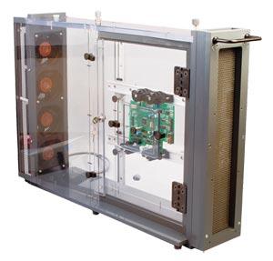 Windtunnel zur Untersuchung des thermischen Verhaltens von Leiterplatten, Kühkörpern, und elektronischen Bauteilen sowie zur Kalibrierung von Strömungsmessern | WT-2000