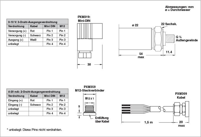 Metrische Drucktransmitter / Druckaufnehmer mit hoher Genauigkeit ...