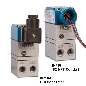 Miniature High Accuracy I/P Transducer Electronic Air Pressure Control | IP710 Series