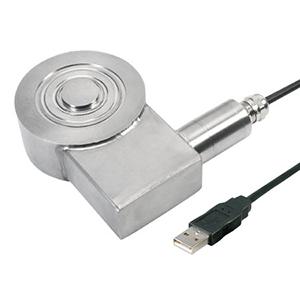 Lastzellen mit USB 2.0-Ausgang für Druck von 0 bis 245 N, niedrige Bauhöhe mit metrische Maßen | LCM411-USBH