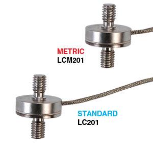 Subminiatur-Lastzellen für Zug- und Druckbelastung, metrische Ausführung, Durchmesser 19 mm, ±100 bis ±500 Newton   | LCM201