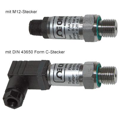 PAA21Y, PR21Y Kompakter Drucktransmitter in DSP-Technik für Absolut- und Relativdruck   PAA21Y, PR21Y