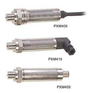 Metrische Drucktransmitter / Druckaufnehmer mit hoher Genauigkeit von 0,08% und 4-20 mA- oder 0-10 V DC-Ausgang | PXM409, PXM419, PXM459