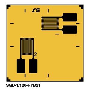SGD-RYB21 Präzisions-DMS - Zweiachsige Rosette mit 2 Elementen, 90° | SGD-RYB21