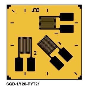 SGD-RYT21 Rosetten-DMS mit 3 Elementen - 0°/45°/90° | SGD-RYT21