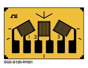 SGD-RY621 60° DMS-ROSETTE für Differenz - kompakte, planare Geometrie | SGD-RY621