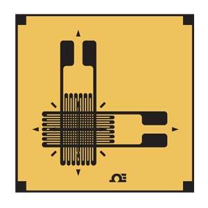 SGD-XY11 Zweiachsige DMS zur Messung axialer Dehnung, 0/90°-Anordnung | SGD-XY11