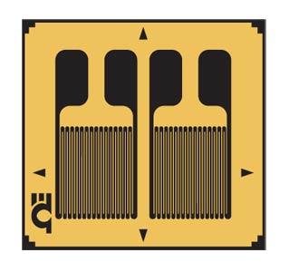 SGD-DY Präzisions-DMS mit zwei Messgittern für Biegedehnung | SGD-DY