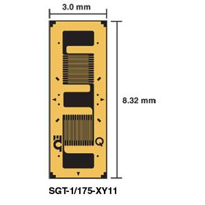 SGT-XY11 DMS - DMS in Messwertaufnehmer-Qualität mit zwei Elementen, 90° zweiachsige T-Rosette | SGT-XY11