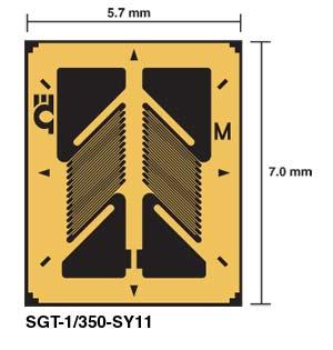 SGT-SY11 DMS in Messwertaufnehmer-Qualität - für Scherspannungs- oder Drehmoment-Anwendungen | SGT-SY11