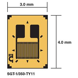 SGT-TY11 Linear DMS - DMS in Messwertaufnehmer-Qualität, 1-achsig | SGT-TY11