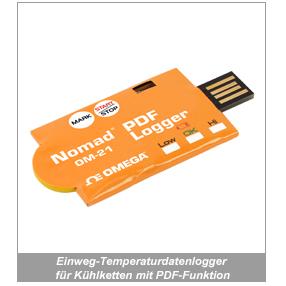 Einweg-Temperaturdatenlogger für Kühlketten mit PDF-Funktion