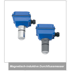 Typische magnetisch-induktive Durchflussmesser-Applikation