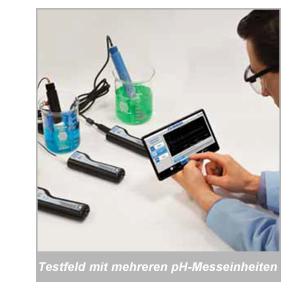 Testfeld mit mehreren pH-Messeinheiten