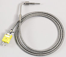 Low Cost Bayonet Style Thermocouples with Stainless Steel Cable   BT Series
