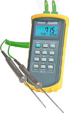 HH506RA Digital-Thermometer mit Thermoelement-Eingang und RS232C-Schnittstelle | HH506A