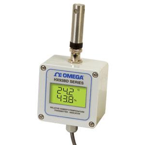 Messumformer / Transmitter für Temperatur und relative Feuchte mit integrierter Digitalanzeige | HX93B