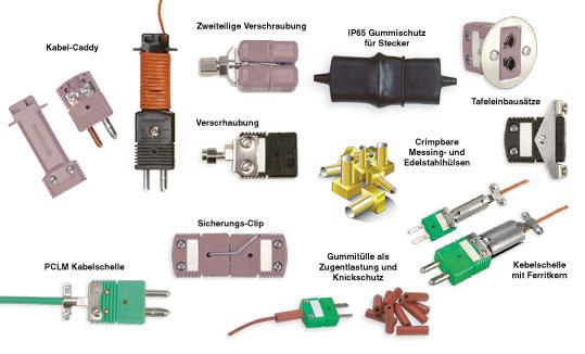 OMEGA | Zubehör: Standard-Thermoelement-Steckverbinder mit Rundkontakten | OSTW-SC, OST-SC, SMP-SC, SWHCL, DX-BRLK, SSRT, MSRT, PCLM, RSACL, SACL, SRB, MRB
