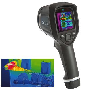 Wärmebildkameras mit MSX®-Funktion für Objekttemperaturen von -20°C bis +250°C | FLIR-Ex-Serie E4, E5, E6, E8