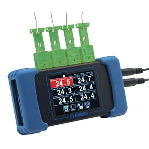 RDXL6SD 6-kanaliger Handheld-Datenlogger für Temperaturen mit Touchscreen | RDXL6SD
