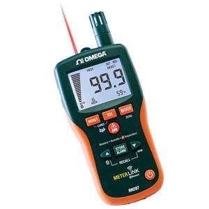 Kontaktloses Messgerät für Feuchte/relative Feuchte mit Infrarot-Thermometer | RH297