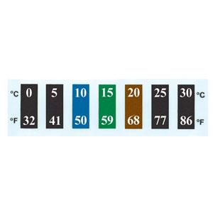 Reversible Temperaturaufkleber aus Flüssigkristall RLC-50 | RLC-50