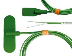 SA2C-*I, SA2F-*I Selbstklebende Thermoelemente, Silikonummantelt für gewölbte und flache Oberflächen | SA2C-*I, SA2F-*I