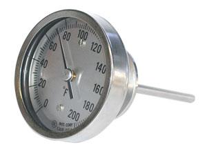 Hygienic Bimetal Thermometers | AA, BB, JJ and LL Bimetal Thermometers