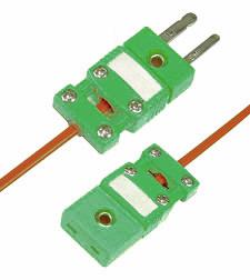 Thermoelement-Steckverbinder mit Kabelschelle für 180°C   SMPW-CC