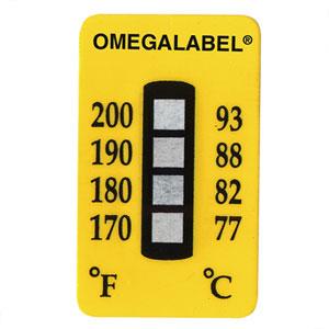 OMEGALABEL Temperaturaufkleber 4 Messpunkte TL-4  | TL-4