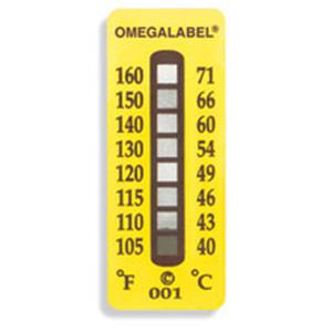 OMEGALABEL Temperaturaufkleber 8 Messpunkte TL-8 | TL-8