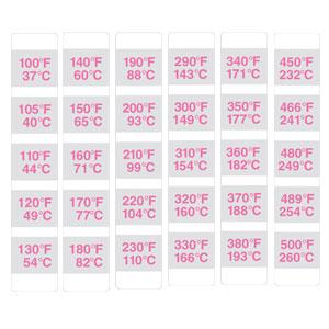 TSDC-9000 Irreversible Temperaturmessstreifen | TSDC-9000-16