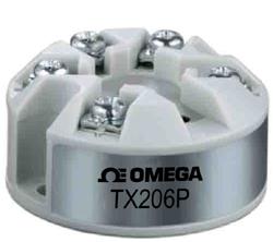 TX206P Pt100-Transmitter für die Kopfmontage mit 4-20 mA-Ausgang, per PC programmierbar | TX206P